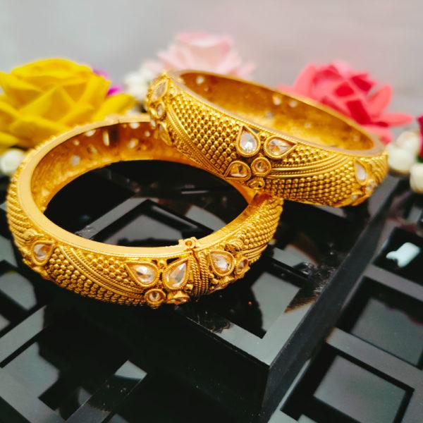AD Antique Gold Bangles