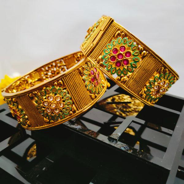 AD Antique Gold Bangles - ADAGB103