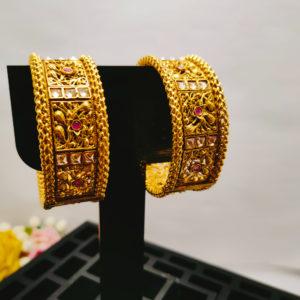 AD Antique Gold Bangles - ADAGB105