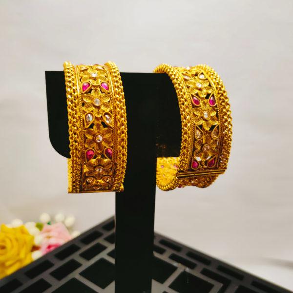 AD Antique Gold Bangles - ADAGB104