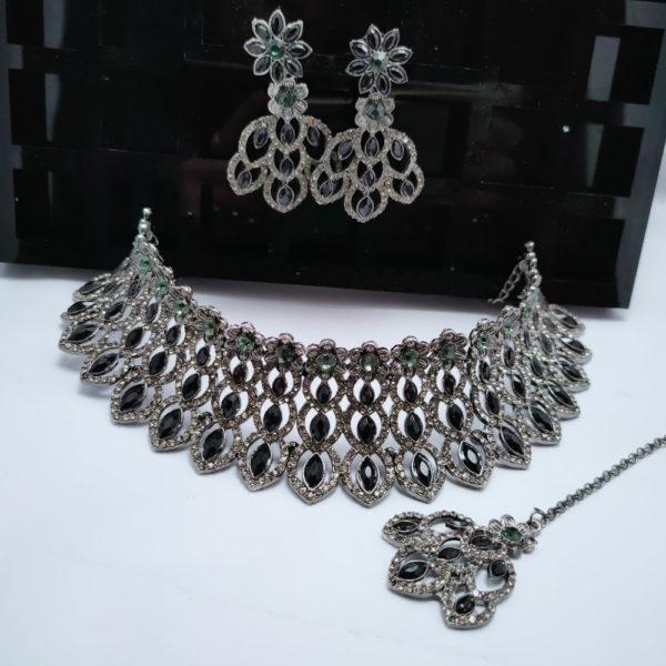 Har Set Silver Black - HSBSL102