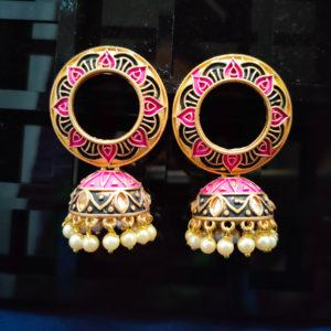 Jhumka Pattern Earrings – JMKE1021