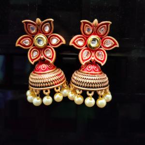 Jhumka Pattern Earrings - JMKE1018