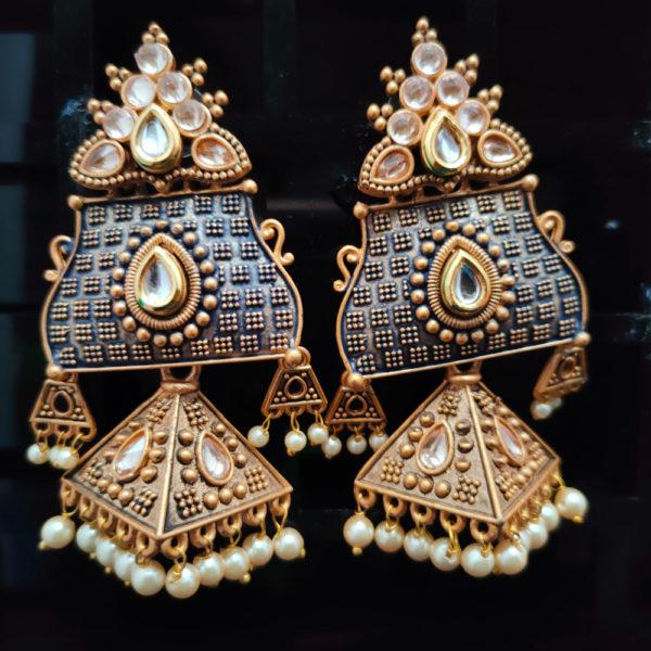 Jhumka Pattern Earrings - JMKE1002