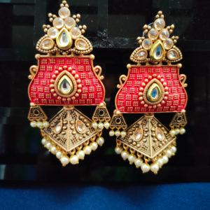 Jhumka Pattern Earrings - JMKE1001