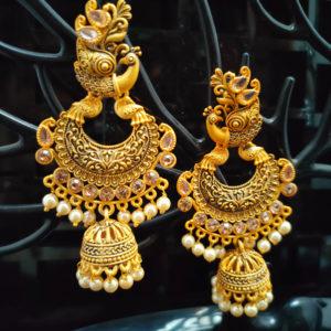 Jhumka Pattern Earrings - JMKE1005