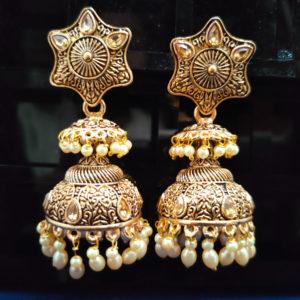 Jhumka Pattern Earrings – JMKE1020