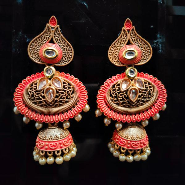 Jhumka Pattern Earrings – JMKE1014