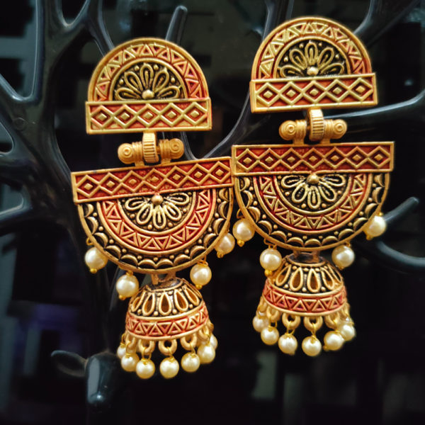 Jhumka Pattern Earrings – JMKE1009