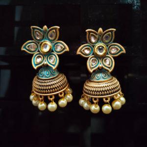 Jhumka Pattern Earrings - JMKE1006