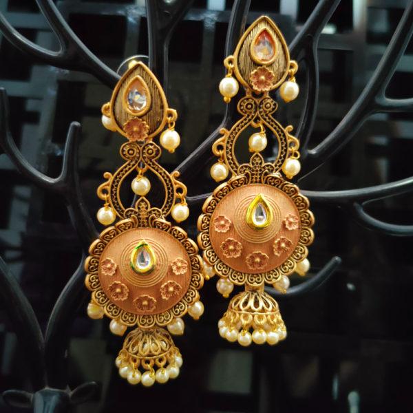 Jhumka Pattern Earrings – JMKE1028