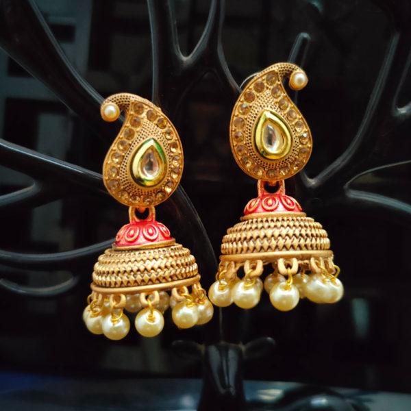 Jhumka Pattern Earrings – JMKE1029