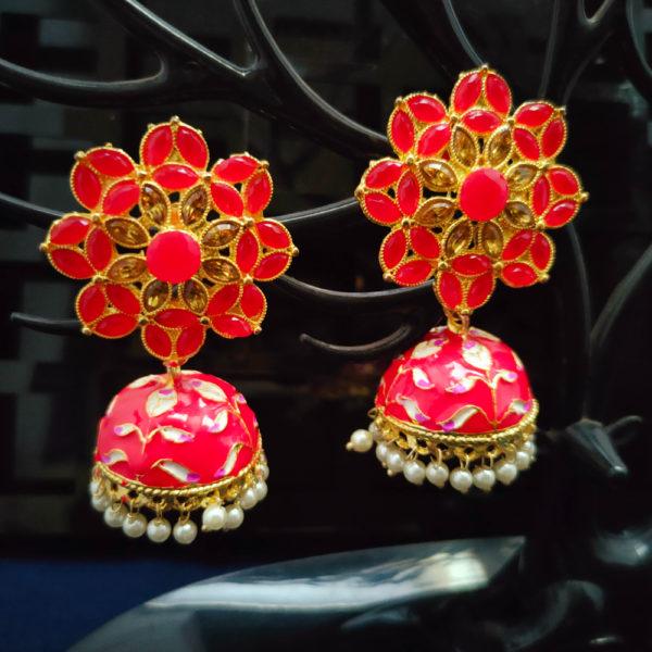 Jhumka Pattern Earrings – JMKE1023