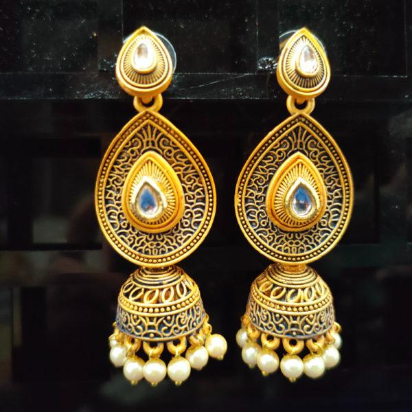 Jhumka Pattern Earrings – JMKE1026