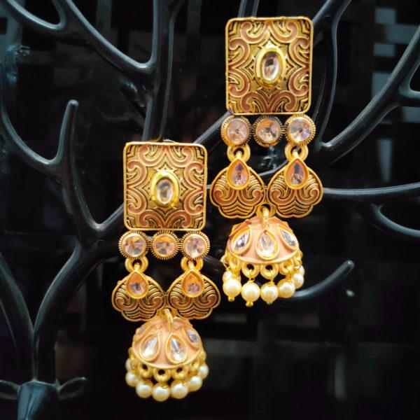 Jhumka Pattern Earrings – JMKE1025