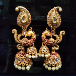 Jhumka Pattern Earrings – JMKE1034