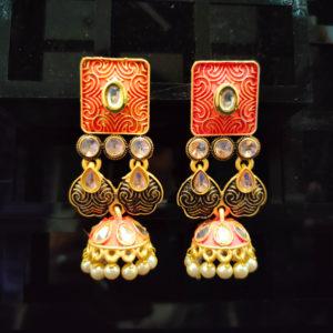 Jhumka Pattern Earrings – JMKE1024