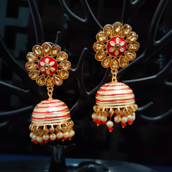 Jhumka Pattern Earrings – JMKE1033