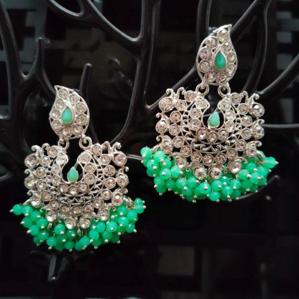 ChandBali Silver Earrings - CBSLE1001
