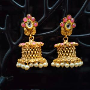 Jhumka Pattern Earrings – JMKE1017