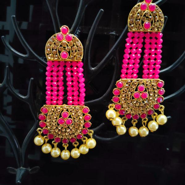 Mangtika Earring Combo ChandBali Pattern - CBMTE105