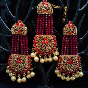 Mangtika Earring Combo ChandBali Pattern - CBMTE107
