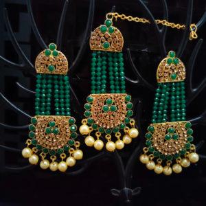 Mangtika Earring Combo ChandBali Pattern - CBMTE104