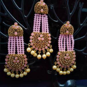 Mangtika Earring Combo ChandBali Pattern - CBMTE106