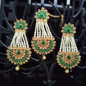 Mangtika Earring Combo ChandBali Pattern - CBMTE102