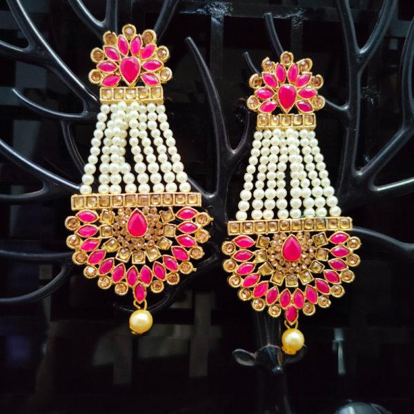 Mangtika Earring Combo ChandBali Pattern - CBMTE103