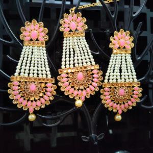 Mangtika Earring Combo ChandBali Pattern – CBMTE108