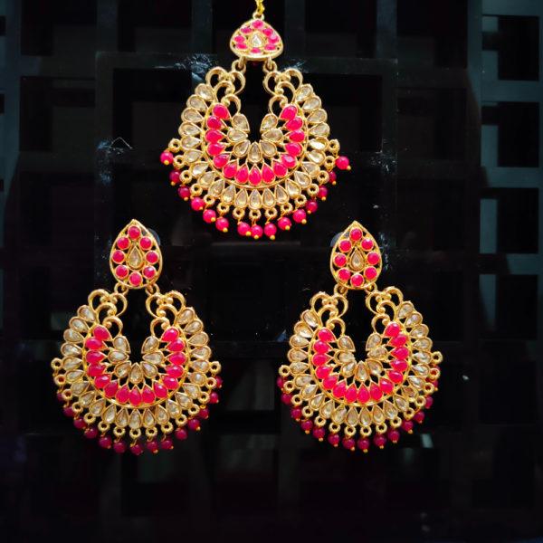 Mangtika Earring Combo ChandBali Pattern – CBMTE110