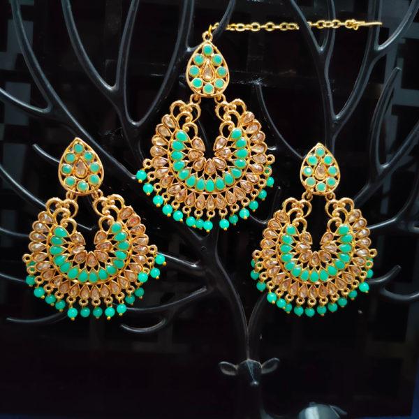 Mangtika Earring Combo ChandBali Pattern – CBMTE111