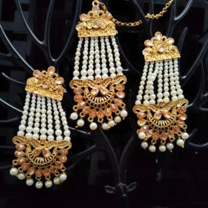 Mangtika Earring Combo ChandBali Pattern – CBMTE109