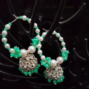 Jhumka Pattern Bali Earrings - BLJMKE103