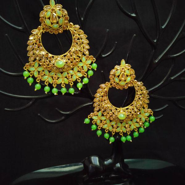 Mangtika Earring Combo ChandBali Pattern – CBMTE113