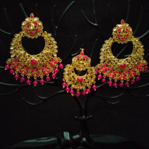 Mangtika Earring Combo ChandBali Pattern – CBMTE112