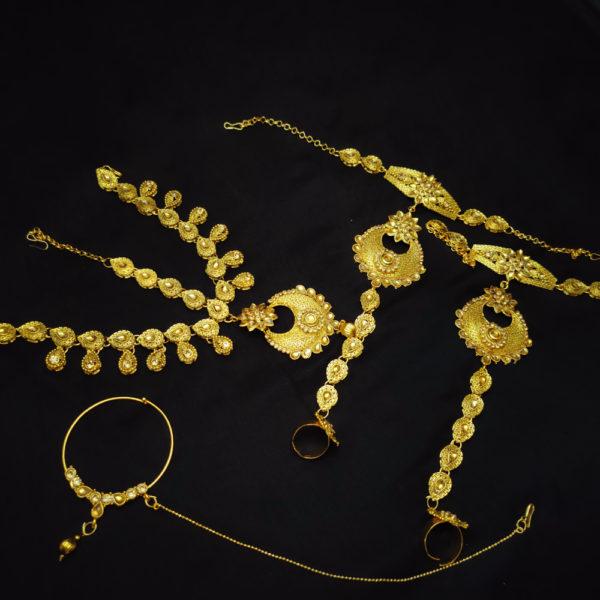 Golden Kundan Stone Bridal Jewellery - BRIDAL106