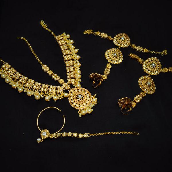 Golden Kundan Stone Bridal Jewellery - BRIDAL107