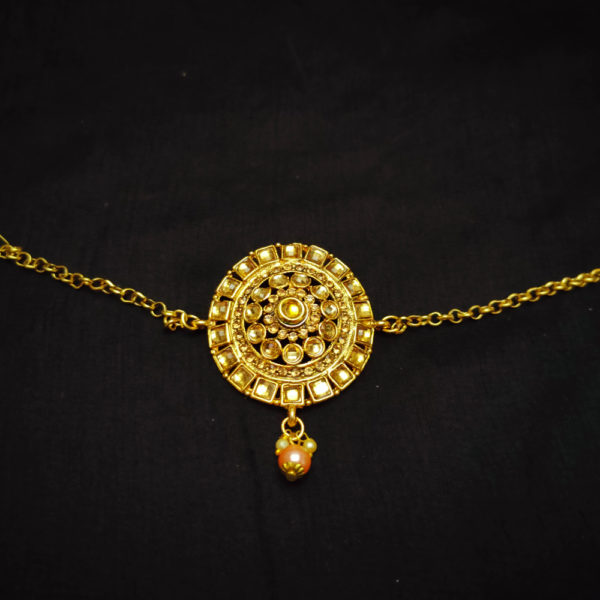 Golden Kundan Stone Bridal Jewellery - BRIDAL108
