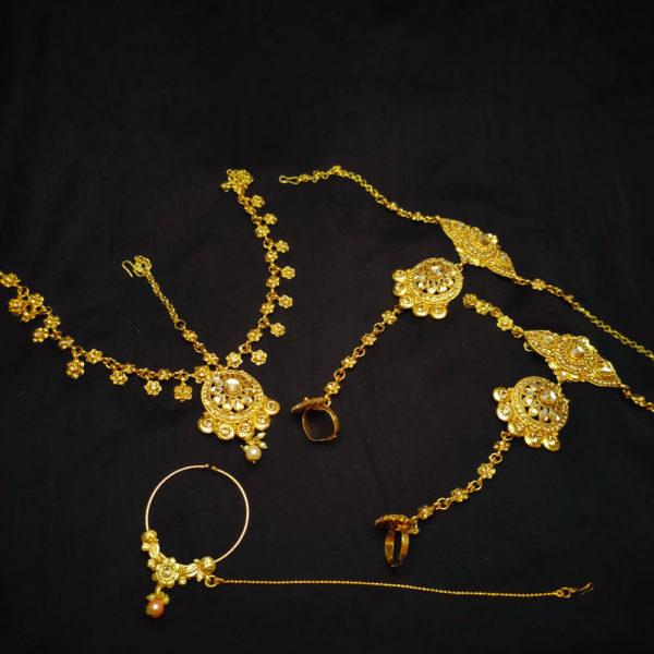 Golden Kundan Stone Bridal Jewellery - BRIDAL109