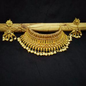 Golden Kundan Stone Bridal Jewellery - BRIDAL110