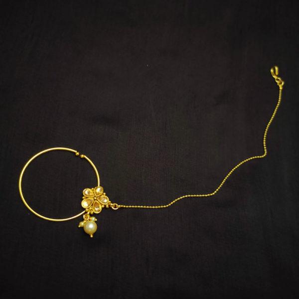 Kundan Stone Golden Bridal Jewellery - BRIDAL112