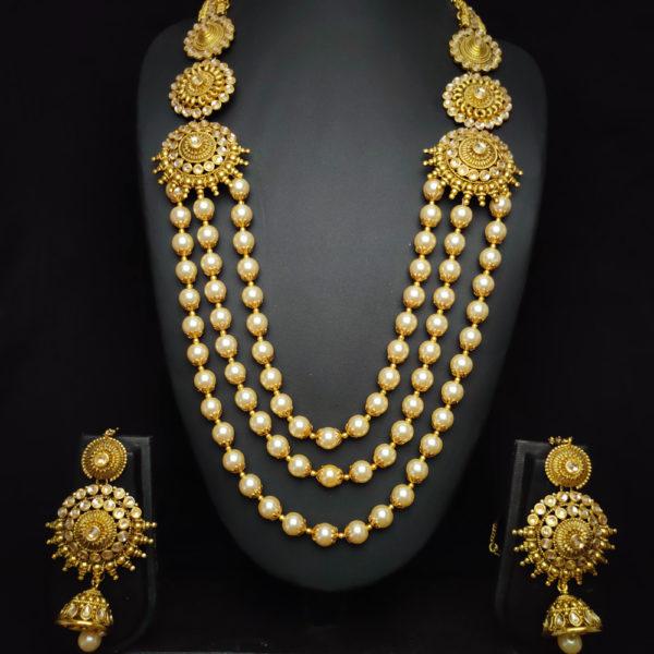 Kundan Stone Golden Bridal Jewellery - BRIDAL113