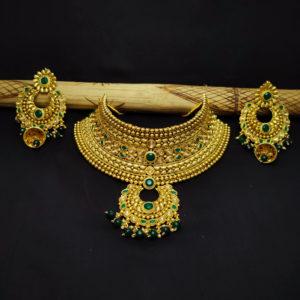 Kundan Stone Green Bridal Jewellery - BRIDAL114