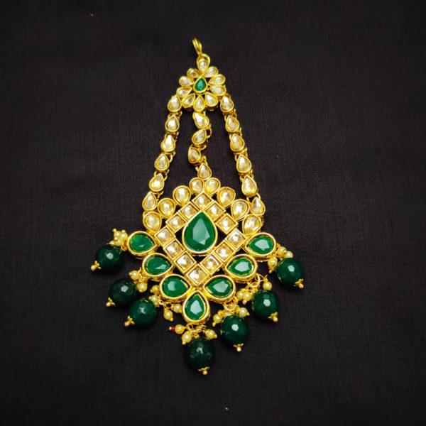 Kundan Stone Green Bridal Jewellery - BRIDAL115