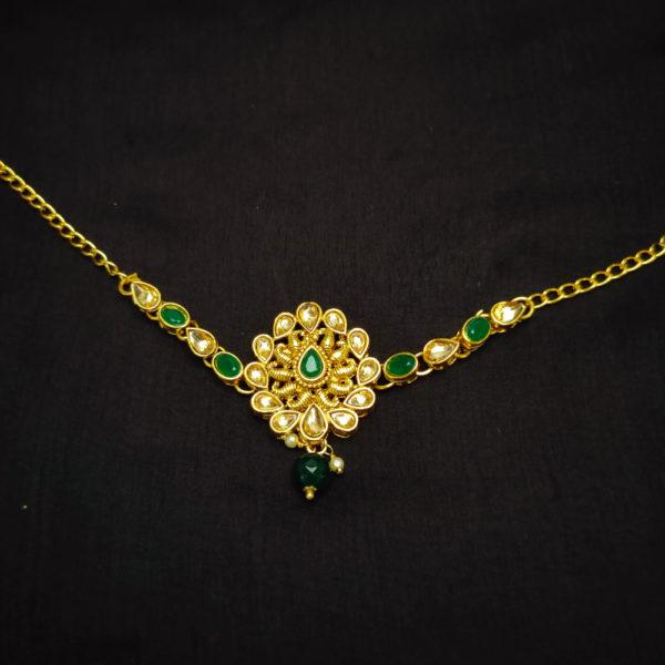 Kundan Stone Green Bridal Jewellery - BRIDAL116
