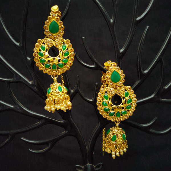Kundan Stone Green Bridal Jewellery - BRIDAL117