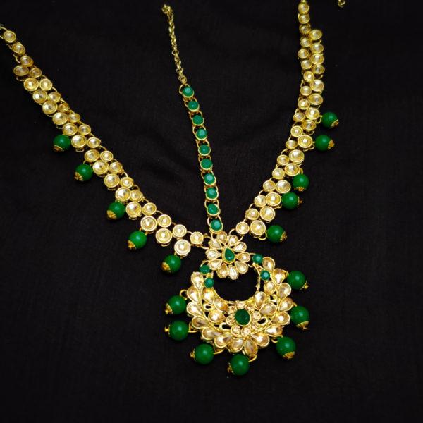 Kundan Stone Green Bridal Jewellery - BRIDAL118