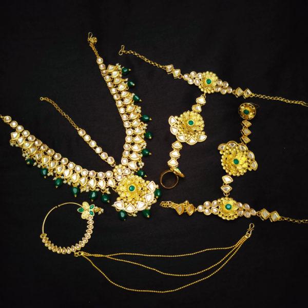 Kundan Green Bridal Jewellery - BRIDAL119